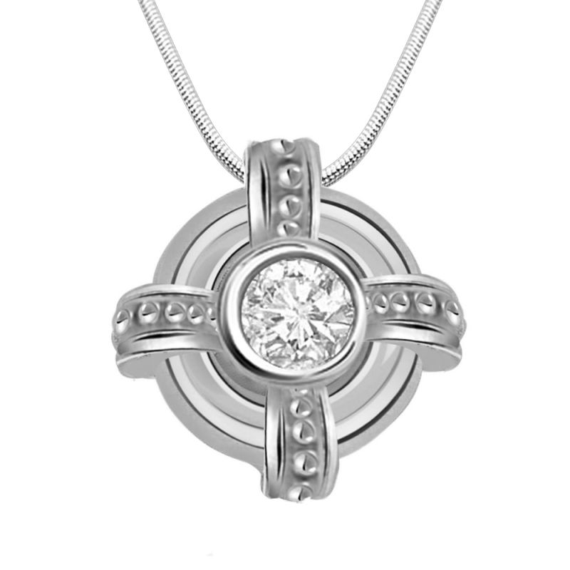 Buy Surat Diamond Freeze Frame - Real Diamond & Sterling Silver Pendant With 18 Inch Chain online