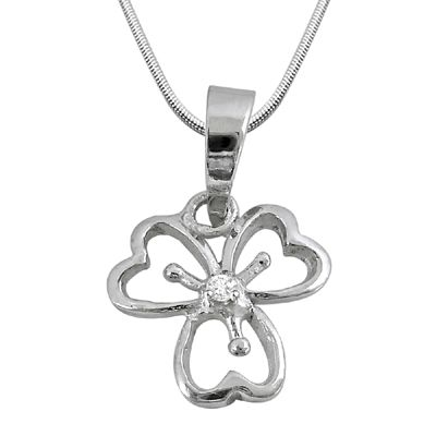 Buy Surat Diamond - Floral Fusion Sterling Silver Pendant -sdp15 online
