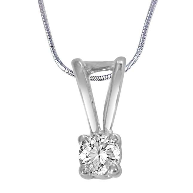 Buy Surat Diamond In The Sky White Topaz & Sterling Silver Pendant With 18 In Chain Sdp385 online
