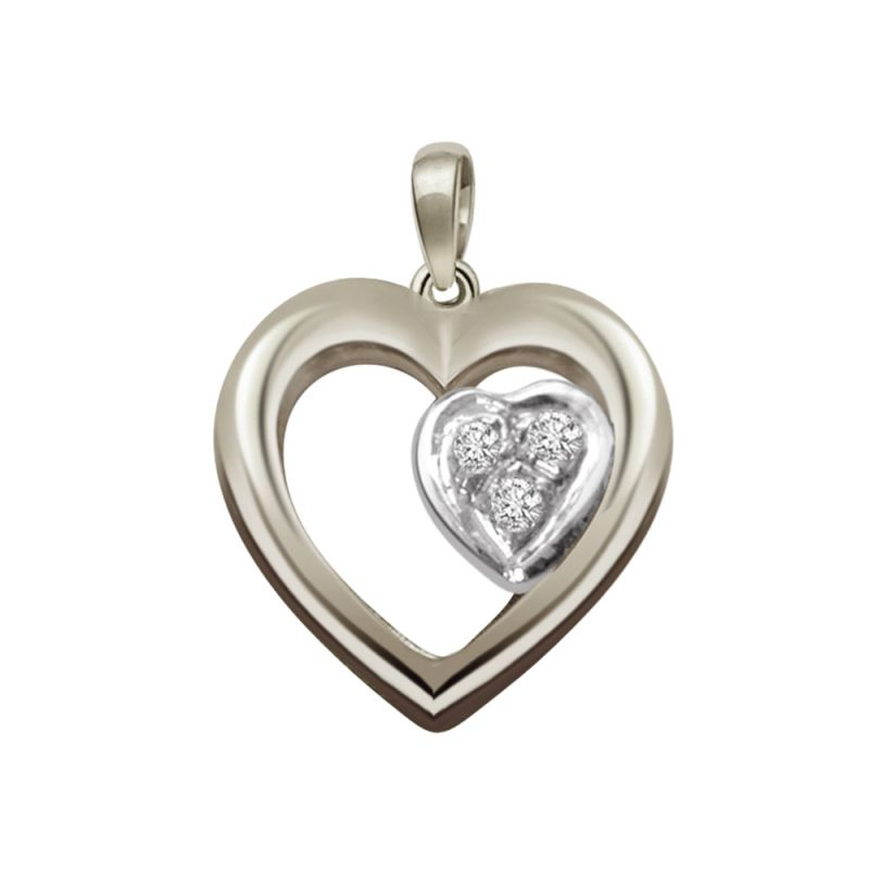 Buy Surat Diamond - Symbol Of Love Sterling Silver Pendant -sdp51 online