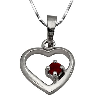 Buy Surat Diamond - Divine Love Sterling Silver Pendant -sdp54 online
