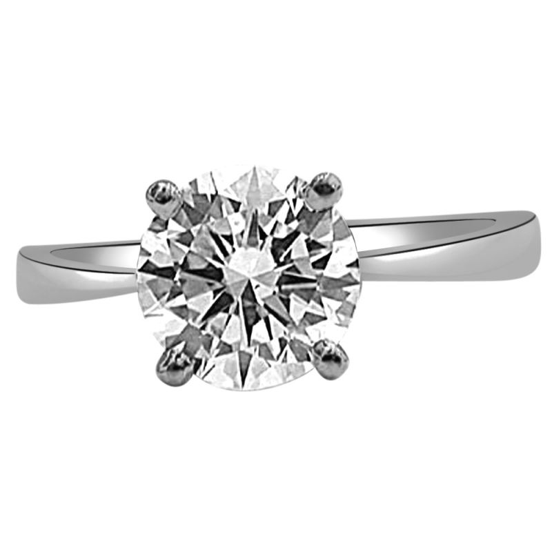 Buy Surat Diamond Diamond Solitaire Ring In 925 Sterling Silver For Engagement/wedding Ssr49 online