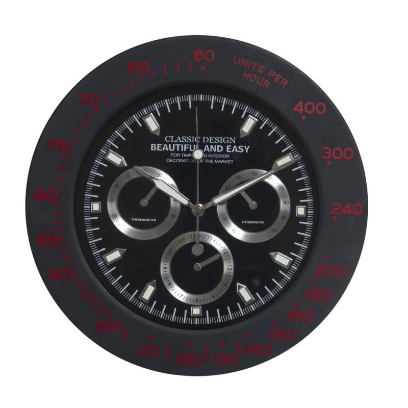 Buy Amazing Black Round Analog Wall Clock online