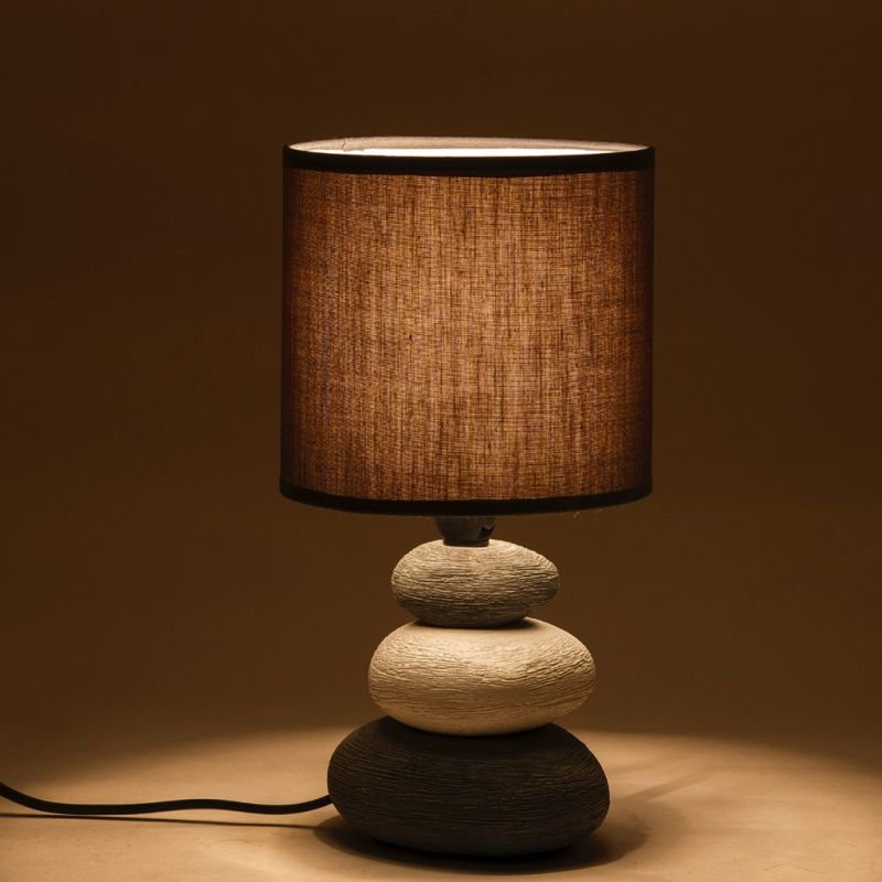 Buy grey ceramic stone style base table lamp online best prices in 50 aloadofball Image collections
