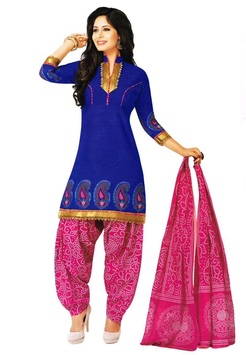Bandhani dress material images of butterflies