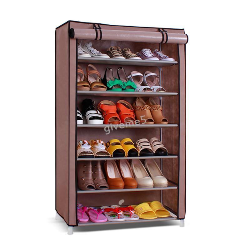 Buy Portable Adjustable 5 Layer Shoe Rack
