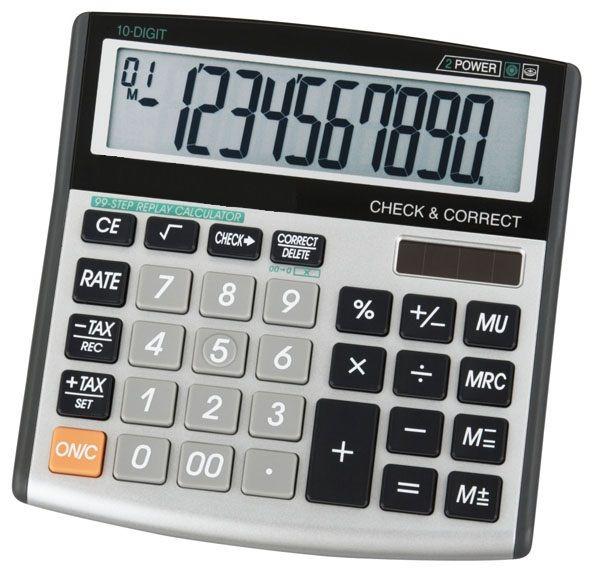 Ct 500vii Desktop Calculator Solar 12 Digit Display 120 Check Correct Online