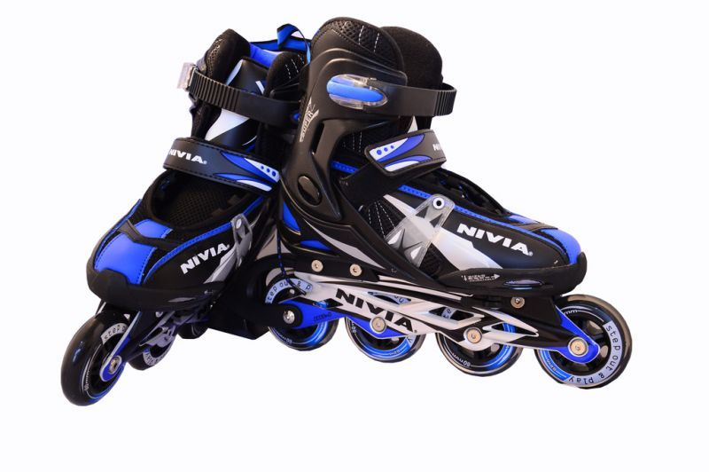 Buy Nivia Roller Inline Skates (blue And Black) online
