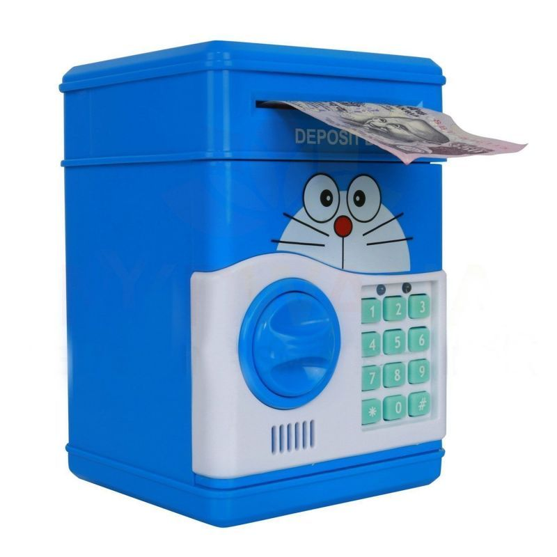 Buy 6th Dimensions Electronic Piggy Bank Password Lock Money Safe For Coin & Note Collecting-blue online