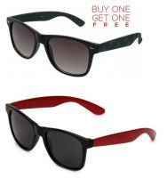 Buy Buy 1 Black Wayfarer Sunglasses And Get 1 Red Wayfarer Sunglasses Free online