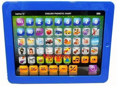 Buy Kid's Fun Learning Touch Screen Tablet Toy-blue online