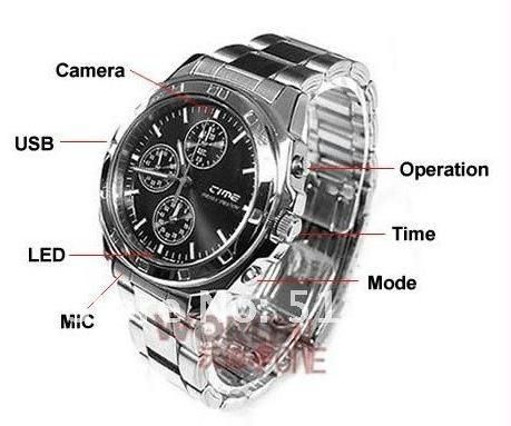 Buy 4GB Spy Wrist Watch With HD Camera Video Audio Dvr online