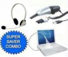 Buy USB Light With Vacuum Cleaner And Headphone online