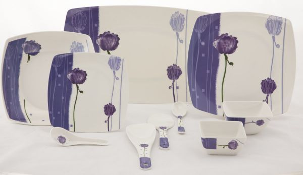 Buy Deluxe Quality Square Melamine Dinner Set 50 PCs online & Buy Deluxe Quality Square Melamine Dinner Set 50 PCs Online | Best ...