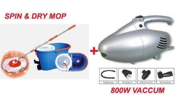 Buy Magic Spin Wet Dry Mop 800 Watt Vaccum Cleaner online