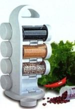 Buy Spice Jar Multipurpose 8 Jar Revolving Spice Rack online