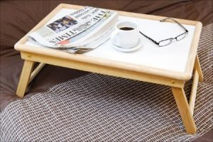 Buy Multipurpose Wooden Laptop Bed Table, Foldable Notebook Netbook Stand online