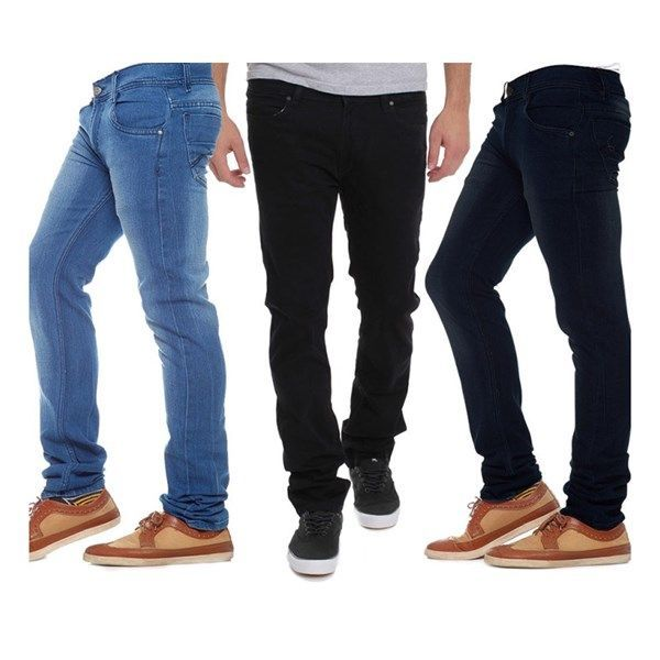 Buy Indmart Set Of 3 Basic Jeans online