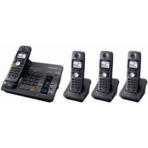Buy Panasonic Kx-tg6074b 5.8 Ghz Digital Cordless Answering System With 4 Handsets online
