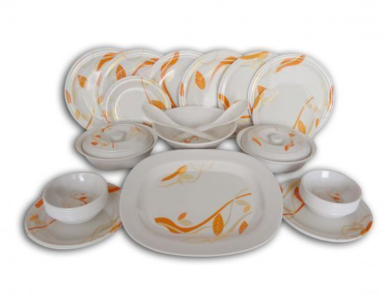 Buy 32 PCs Deluxe Melamine Dinner Set online
