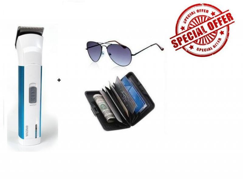 Buy Buy Nova Trimmer 3801 And Get Free Aviator And Aluma Wallet online