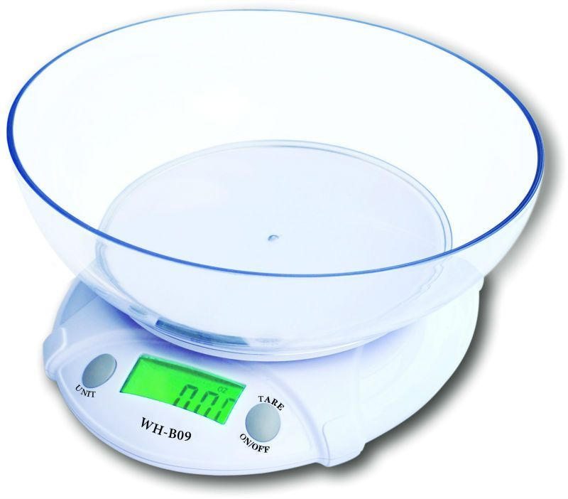 Buy Cubee Electronic Kitchen Scale With Bowl Battery Operated online