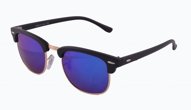Buy New Trendy Club Master Style Uv Protected Sunglass Black Frame And Dark Blue Mirror Lens online