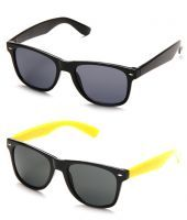 Buy Yellowblack-wfr Wayfarer Sunglasses - Buy 1 Get 1 Free online