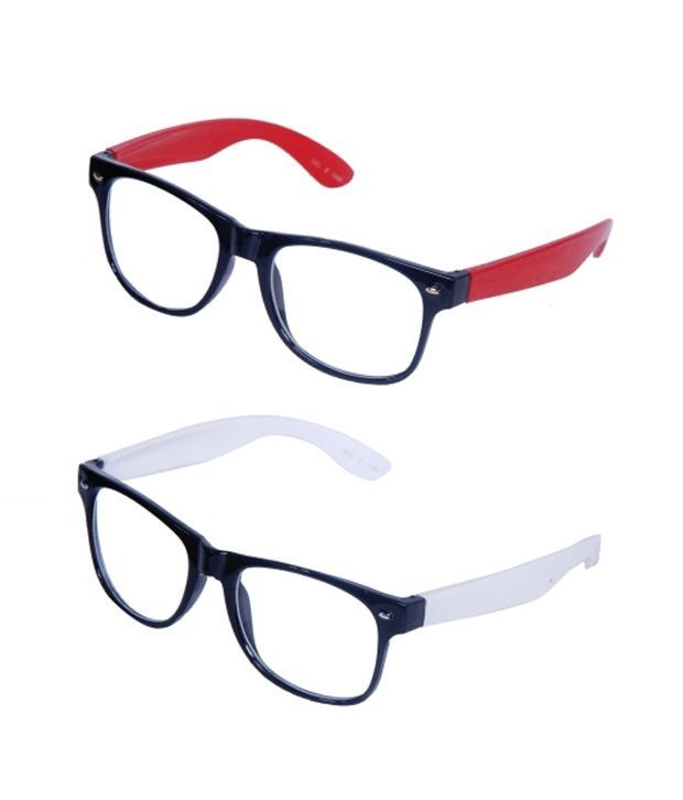 Buy Wayfarer Style Sunglasses - Red & White Buy 1 Get 1 Free online