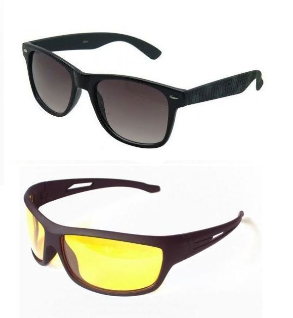 Buy Night Driving & Wayfarer Sunglasses - Buy 1 Get 1 Free online