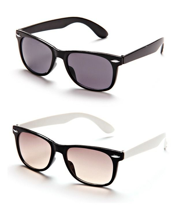 Buy Black Frame Wayfarer Sunglasses - Buy 1 Get 1 Free online
