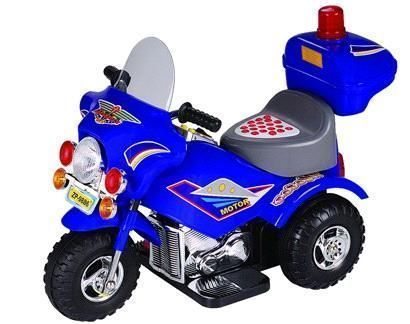 Buy Kids Ride On Electric Chargeable Police Motorbike (rd) online