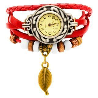 Buy New Vintage Style Leather Bracelet Watch For Women online