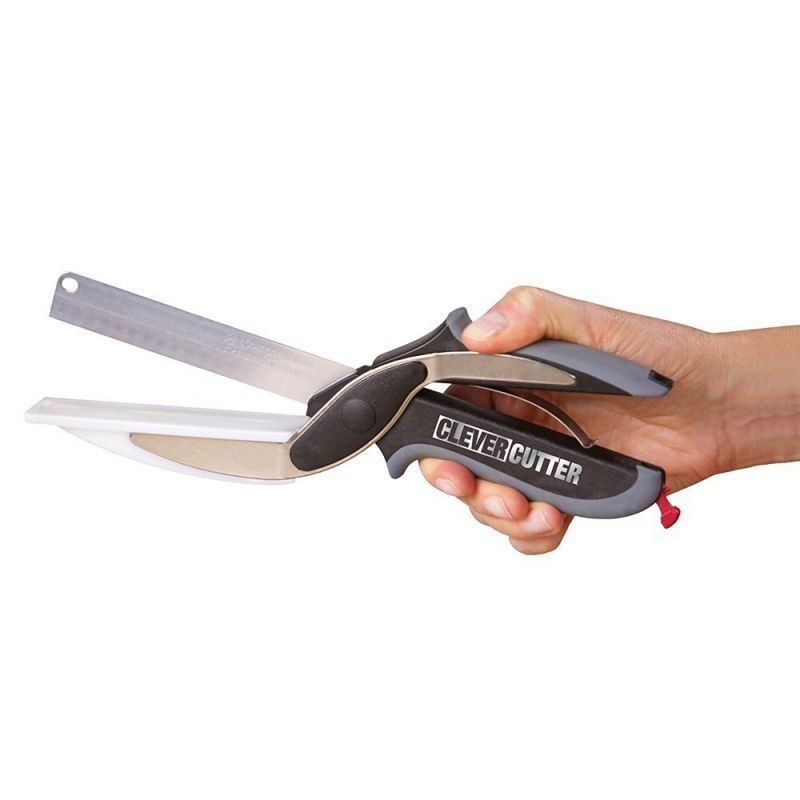 Buy 2 In 1 Kitchen Knife With Attached Chopping Board online