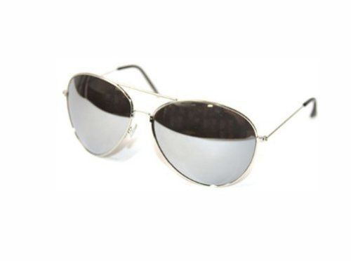 Buy Aviator Sunglasses Silver Frame Mirror Lens online