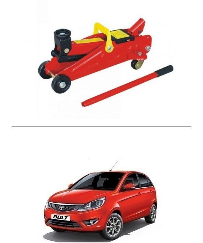 Buy Autostark 2 Ton Professional Trolley Hydraulic Jack (red) For Tata Bolt online