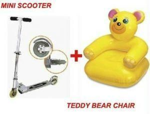 Buy Personal Foldable Mini Scooter Teddy Bear Chair. online