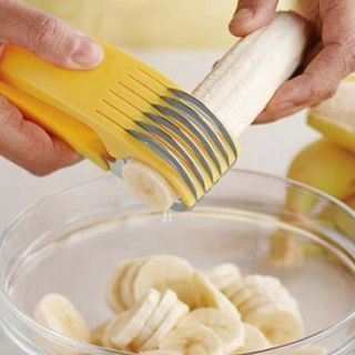 Buy Stainless Steel Banana Slicer Fruit Cutter Cucumber Chopper Salad Kitchen online
