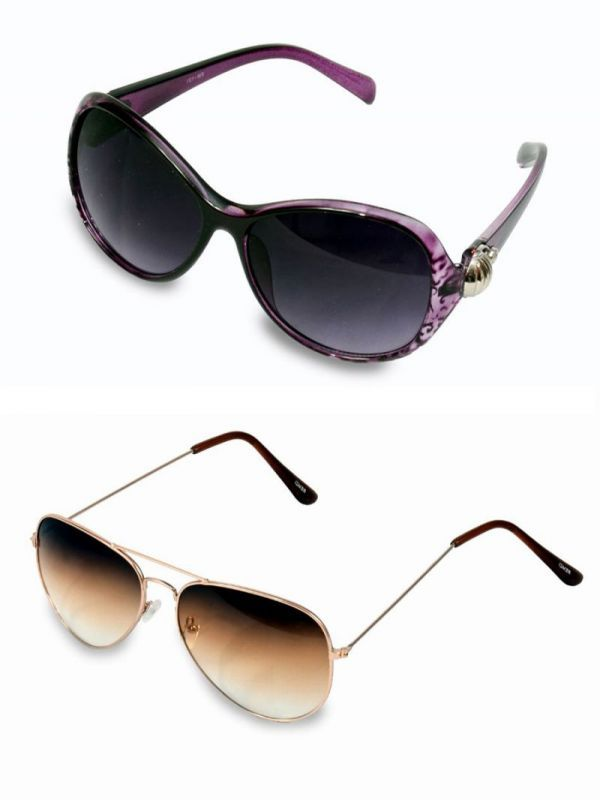 Buy Buy 1 Womens Sunglasses And Get 1 Brown Aviator Sunglasses Free online