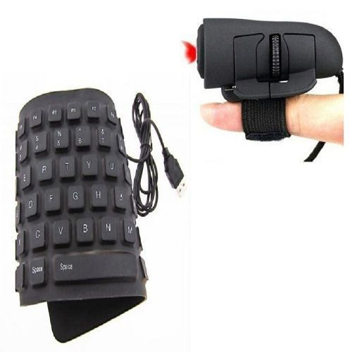Buy Combo Of Flexible Keyboard & Optical Finger Mouse online