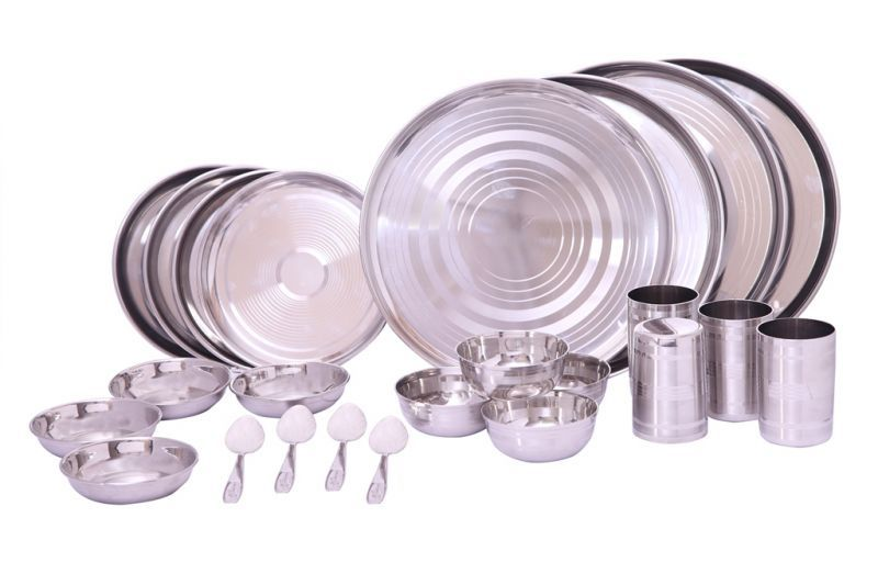 Buy Zahab Royal High Quality Stainless Steel Dinner Set-24 PCs online