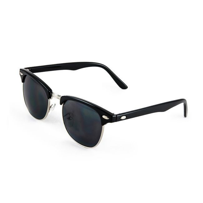 Buy EDGE Club Master Black Sunglasses With Black Lenses For Men online