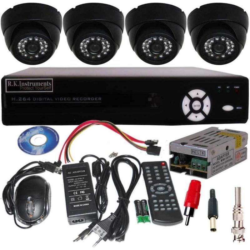Buy Dm Set Of 8 Night Vision Cctv Dome Camera With 8 Ch. Channel Network Dvr online