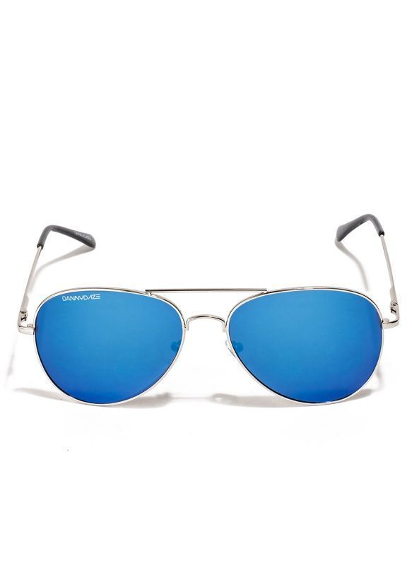 Buy Danny Daze Blue Mirror Lens Aviator Sunglasses For Men & Women online