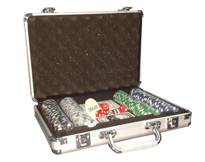 Buy 200 PCs Poker Chip Game Set Toy In Silver Aluminium Case online