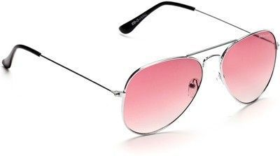Buy Imported Pink Stylish Aviator Sunglasses For Men & Women online