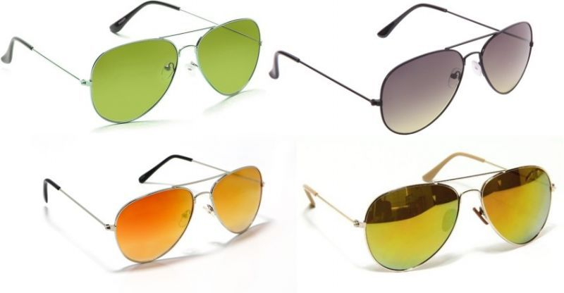 Buy Sunglass Combo - Green S Black 2 Shade ,golden Mercury ,green Mercury online