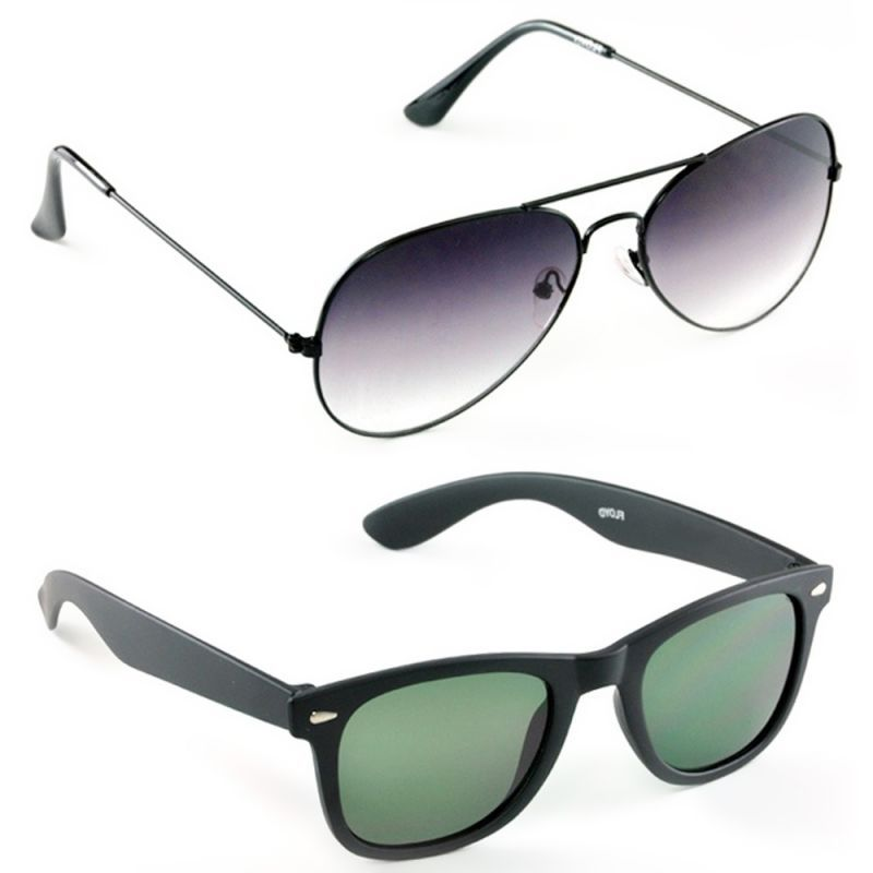 Buy Gradient Aviators Wayfarer Sunglasses Combo online