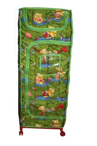 Buy Foldable Multipurpose Almirah With Wheels Kids Storage Gift Item online