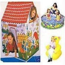 Buy Kid Picnic Combo (tent + Teddychair + Water Pool) online